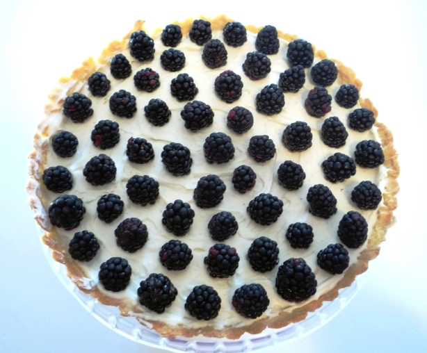 Blackberry Honey Mascarpone Tart